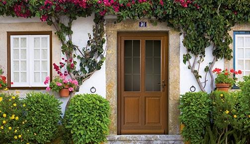 Porte d'entrée extérieur en alu vue de l'intérieur - Tryba